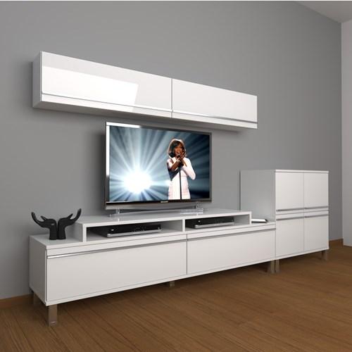 Ekoflex 6y Mdf Krom Ayaklı Tv Ünitesi - DA21TV02 görseli, Picture 1