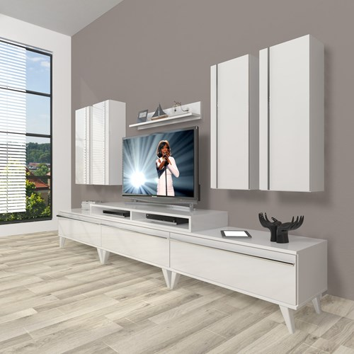 Ekoflex 8d Mdf Retro Tv Ünitesi - DA23TV03 görseli, Picture 1