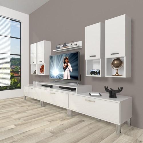 Ekoflex 8da Mdf Krom Ayaklı Tv Ünitesi  - DA23TV10 görseli, Picture 1