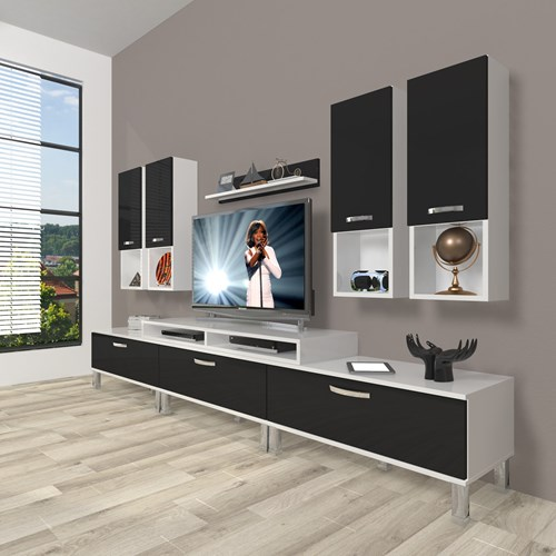 Ekoflex 8da Mdf Krom Ayaklı Tv Ünitesi  - DA23TV10 görseli, Picture 2