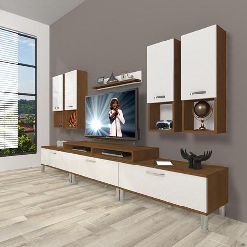Ekoflex 8da Mdf Krom Ayaklı Tv Ünitesi  - DA23TV10 görseli, Picture 4
