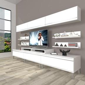 Ekoflex 8y Mdf Krom Ayaklı Tv Ünitesi - DA23TV18 görseli