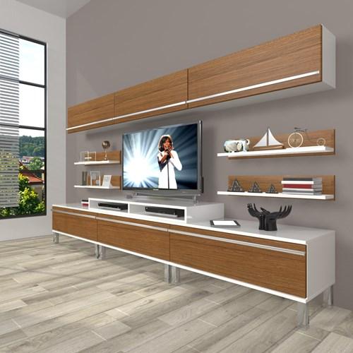 Ekoflex 8y Mdf Krom Ayaklı Tv Ünitesi - DA23TV18 görseli, Picture 3