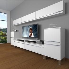 Ekoflex 9 Mdf Krom Ayaklı Tv Ünitesi - DA24TV02 görseli