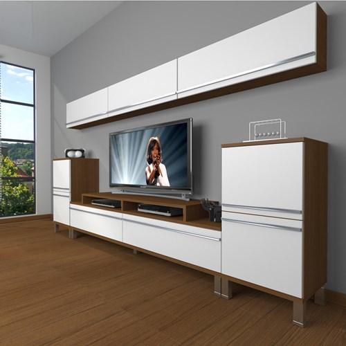 Ekoflex 9 Mdf Krom Ayaklı Tv Ünitesi - DA24TV02 görseli, Picture 4