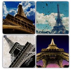 Eiffel Doğal Taş Bardak Altlıkları - BA094 görseli