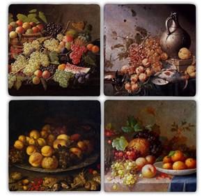 Fruits Doğal Taş Bardak Altlıkları - BA105 görseli