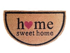Giz Home Koko Kapı Paspası 33X55 Home Sweet Home Yarımay - 103KKHSHY1925 görseli