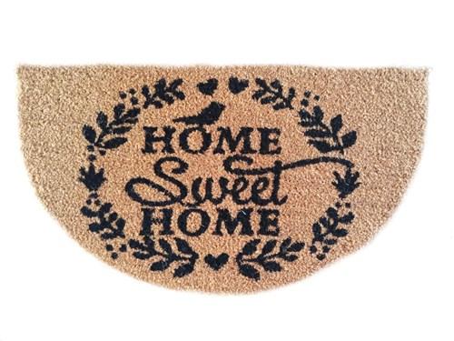 Giz Home Koko Kapı Paspası 40X70 Home Sweet Home Yarımay - 103KKHSHY2979 görseli, Picture 1