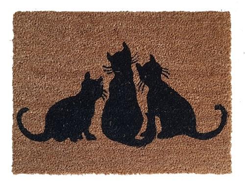 Giz Home Koko kapı paspası 40x60 Üç Kedi - 103KKUCKE1901 görseli, Picture 1