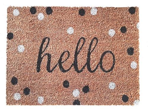 Giz Home Koko Kapı Paspası 40x60 Benekli Hello - 103KKBNKK1901 görseli, Picture 1