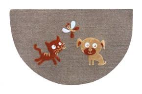 Giz Home Luna Kapı Paspası 40X65 Yarımay Kahve Kedi Köpek Kelebek - 103LUKKKK3129 görseli