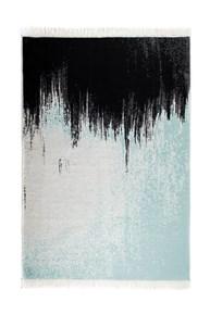 Albeni Pamuklu Çift Taraflı Kilim Siyah Mavi ALB7 160x230 - 201ABMVA73274 görseli
