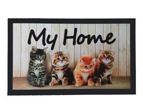 Giz Home İtalyan Format Kapi Paspasi 40X68 My Home Kediler - 103IFMYKD1911 görseli