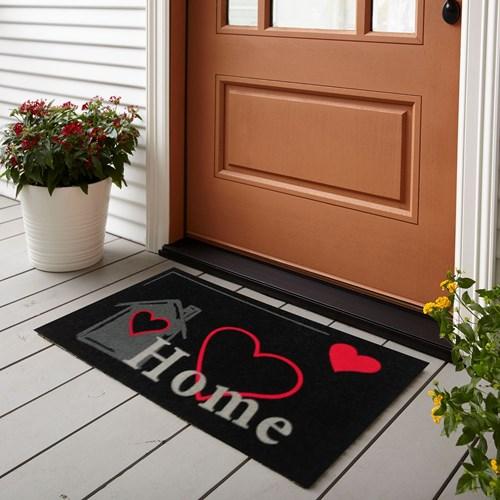Giz Home Koko Kapı Paspası 33x60  Siyah Welcome Fil - 103KKSWFL2043 görseli, Picture 1
