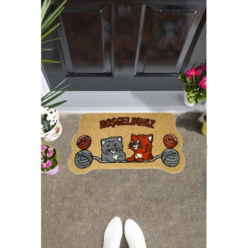 Giz Home İtalyan Kokardo Kapı Paspası 40X70 Yumaklı Kediler - 103IKYUKE1931 görseli, Picture 1