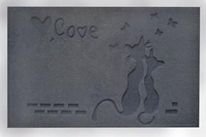 Giz Home Parga Kapı Paspası 40X75 Gri Kedi - 103PRGRKD1909 görseli