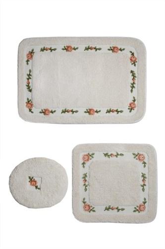 Giz Home Gül Klozet Takımı Kare 3Lü 60X100 Cream - 501GUCR001999 görseli, Picture 1
