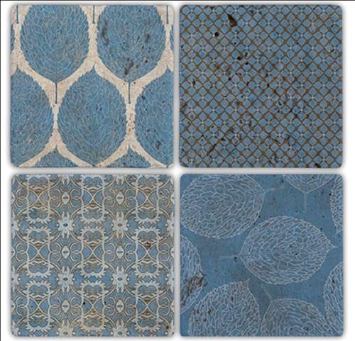 Maviler Doğal Taş Bardak Altlıkları - BA185 görseli, Picture 1