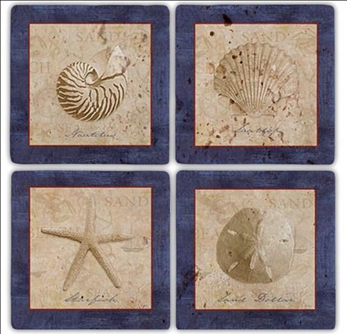 Shell Doğal Taş Bardak Altlıkları - BA190 görseli, Picture 1