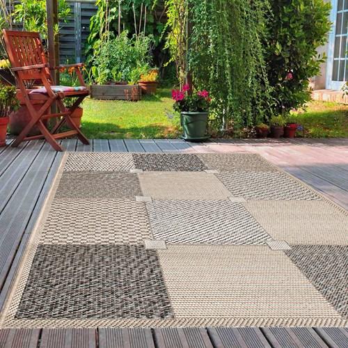 Giz Home Layton Dekoratif Halı 100X150 Gri Kareli 87X - 301LYGRKR2193 görseli, Picture 1