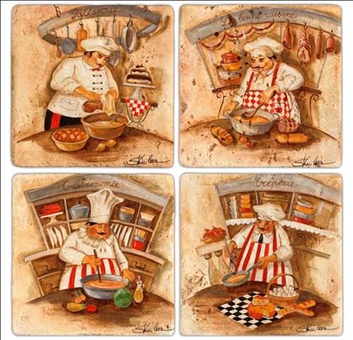 Cooker 2  Doğal Taş Bardak Altlıkları - BA192 görseli, Picture 1