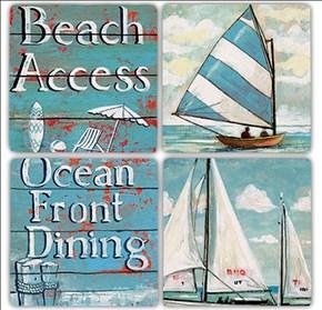 Beach Access  Doğal Taş Bardak Altlıkları - BA193 görseli