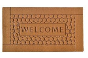 Giz Home Parga Kapı Paspası 40X60 Kahve Welcome Taş - 103PRKHWT1903 görseli