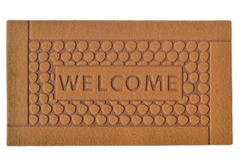 Giz Home Parga Kapı Paspası 40X60 Kahve Welcome Taş - 103PRKHWT1903 görseli, Picture 1
