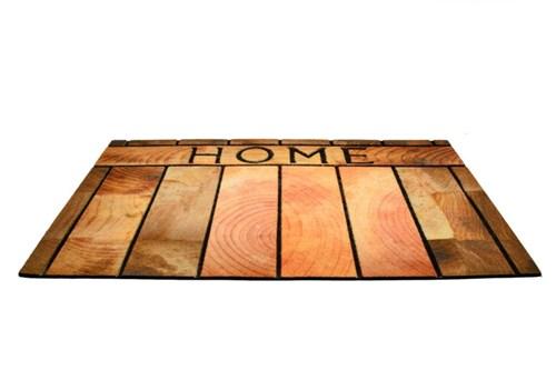 Giz Home Mozaik Kapı Paspası 45X75 Ahşap Home - 103MZAHHO1916 görseli, Picture 1