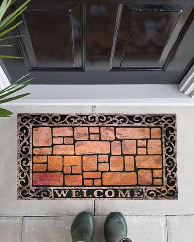 Giz Home Mozaik Kapı Paspası 45X75 Stone Mat - 103MZ00SM1916 görseli, Picture 1