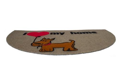 Giz Home Luna İtalyan Kapı Paspası 40X65 Yarımay Kahve My Home Köpek - 103LUKHHK3129 görseli, Picture 1
