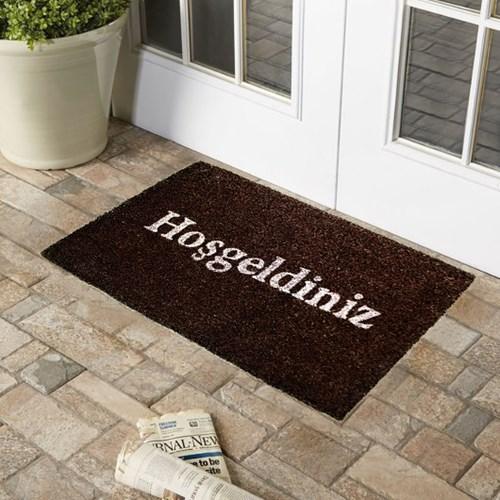 Giz Home Koko Kapı Paspası 40X60 Koyu Kahve Hoşgeldiniz - 103KKKKHG1901 görseli, Picture 1