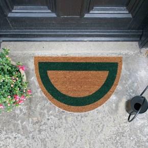 Giz Home Koko Kapı Paspası 40X70 Yarımay Bej Yeşil Çerçeveli - 103KKBYEC2123 görseli