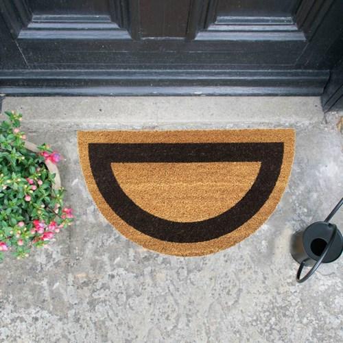 Giz Home Koko Kapı Paspası 40X70 Yarımay Bej Siyah Çerçeveli - 103KKBSYC2123 görseli, Picture 1