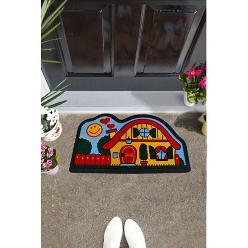 Giz Home İtalyan Sempatık Kapı Paspası 40X68 Neşeli Yuva - 103ISNEYU1941 görseli, Picture 1