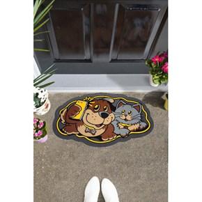 Giz Home İtalyan Sempatik Kapı Paspası 40X68 Kedi-Köpek - 103IS00KK1941 görseli