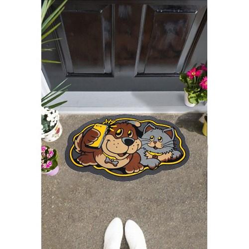 Giz Home İtalyan Sempatik Kapı Paspası 40X68 Kedi-Köpek - 103IS00KK1941 görseli, Picture 1