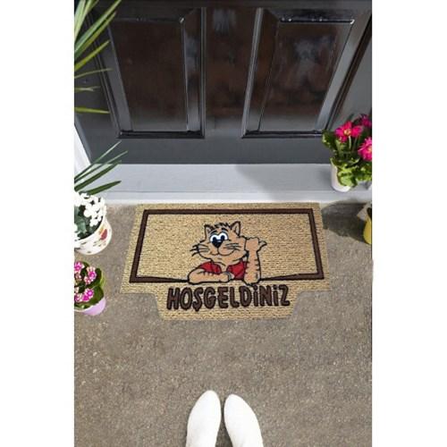 Giz Home İtalyan Kokardo Kapı Paspası 40X70 Welcome Kedi - 103IKWCKE1931 görseli, Picture 1