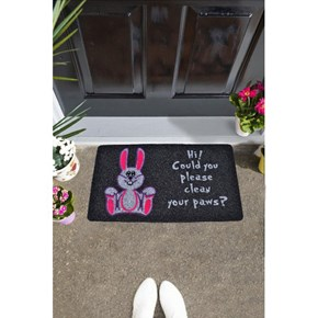 Giz Home İtalyan Kokardo Kapı Paspası 40X70 Sevimlı Tavşan - 103IKSETA1931 görseli