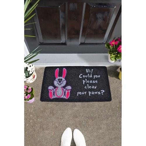 Giz Home İtalyan Kokardo Kapı Paspası 40X70 Sevimlı Tavşan - 103IKSETA1931 görseli, Picture 1