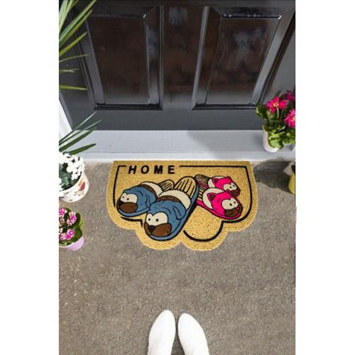 Giz Home İtalyan Kokardo Kapı Paspası 40X70 Renkli Terlıkler - 103IKRETE1931 görseli, Picture 1