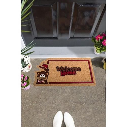 Giz Home İtalyan Kokardo Kapı Paspası 40X70 Sapkalı Kedi - 103IKKECA1931 görseli, Picture 1