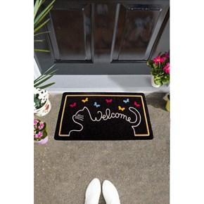 Giz Home İtalyan Kokardo Kapı Paspası 40X70 Cat Welcome - 103IKKDEV1931 görseli