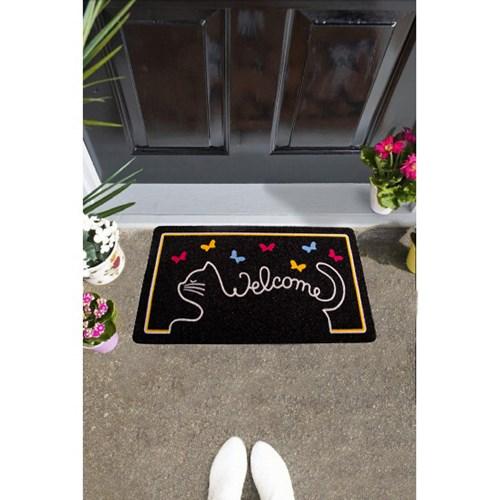 Giz Home İtalyan Kokardo Kapı Paspası 40X70 Cat Welcome - 103IKKDEV1931 görseli, Picture 1