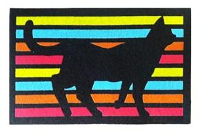 Giz Home İtalyan Kokardo Kapı Paspası 40X68 Çizgili Kedi - 103IKCZKD1928 görseli