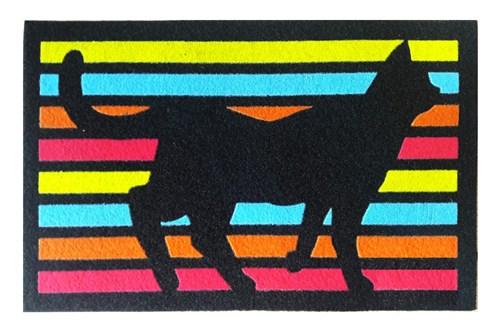 Giz Home İtalyan Kokardo Kapı Paspası 40X68 Çizgili Kedi - 103IKCZKD1928 görseli, Picture 1