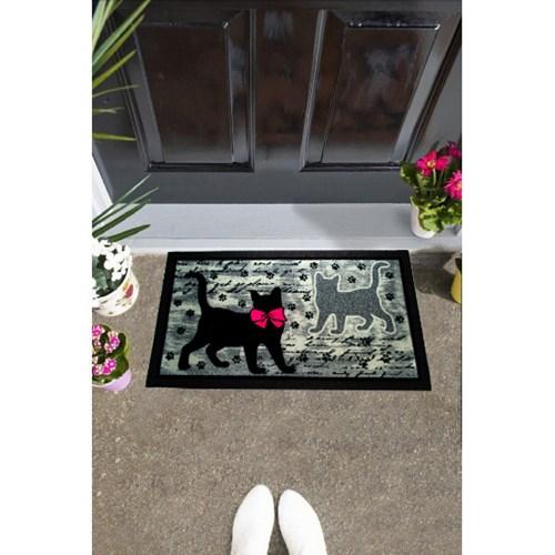 Giz Home İtalyan Format Kapı Paspası 40X68 Siyah Kediler - 103IFSYKE1911 görseli, Picture 1