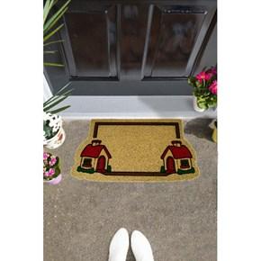 Giz Home İtalyan Kokardo Kapı Paspası 40X70 İkiz Evler - 103IK00IE1931 görseli