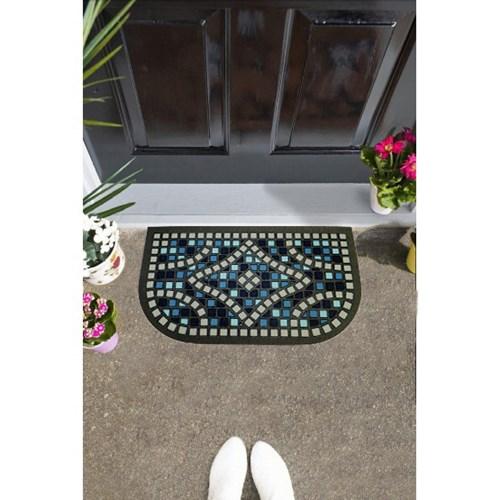 Giz Home İtalyan Format Kapı Paspası 40X68 Mavi Yarımay - 103IFMVYA1911 görseli, Picture 1
